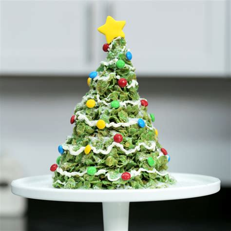 giant marshmallow cornflakes christmas tree treat recipe