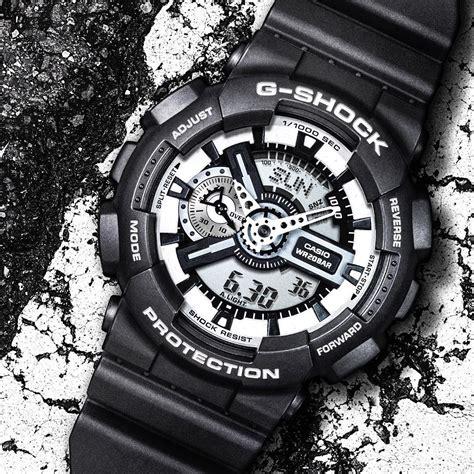 Casio G Shock Ga 110 White g shock ga 110 from the black white collection