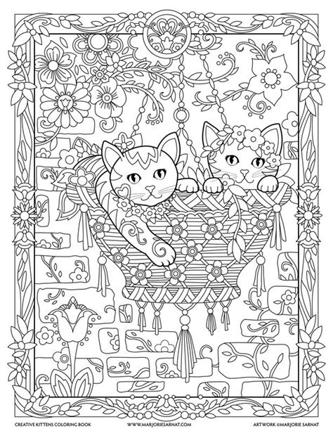 creative cats coloring book hanging basket creative kittens coloring book by