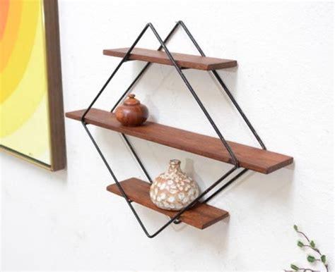 Modern Wall Shelf 1950s vintage danish modern geometric teak wall shelf mid