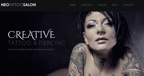 wordpress themes hairdresser free wordpress theme for trendsetting tattoo services wp template