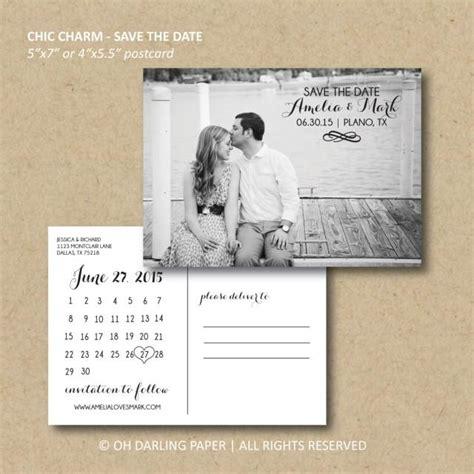 postcard calendar template printable save the date postcard chic charm calendar