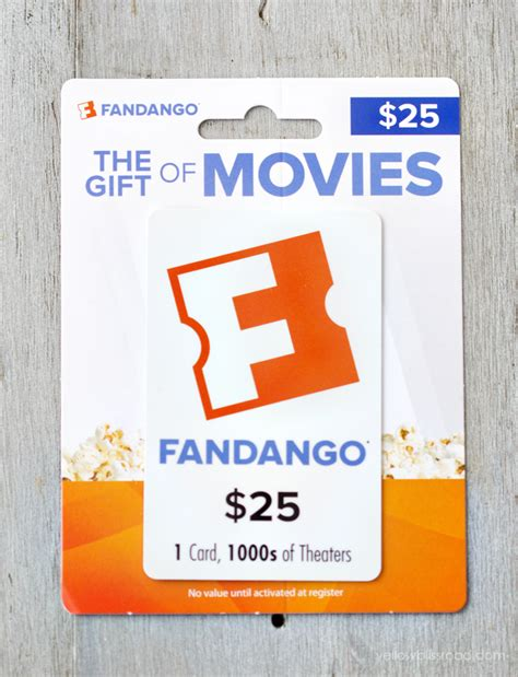 Fandango Gift Card Movie Theaters - dinner a movie my favorite things giveaway yellow bliss road