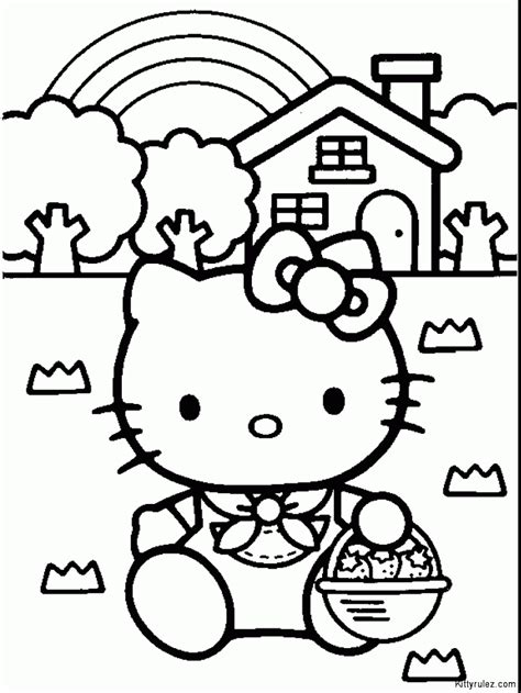 emo hello kitty coloring pages hello kitty drawings coloring home