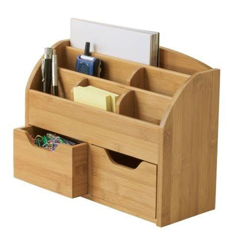 Desk Sorter Organizer New Desk Organizer Holder Home Office Storage Letter Pen Wood Mail Paper Sorter Ebay
