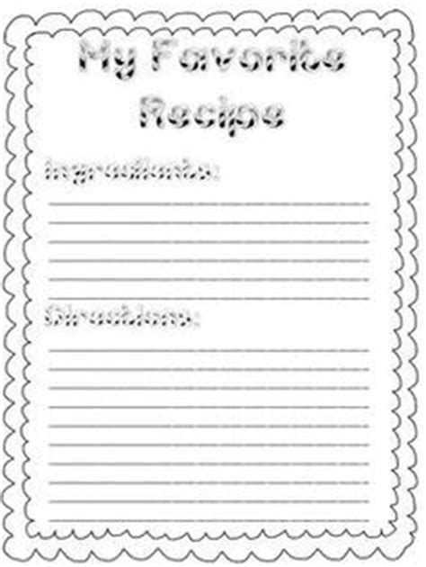 preschool cookie recipe card template craft ideas on box safety and