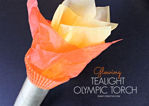 How To Make A Paper Torch - glowing tealight olympic torch it lights up oh my