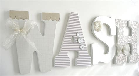 Wall Decor Letters For Nursery Homes Decoration Tips Wall Letters For Room