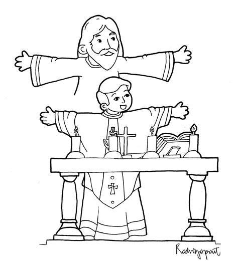 parts of catholic mass coloring page coloring pages