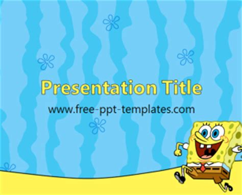 spongebob powerpoint template spongebob ppt template free powerpoint templates