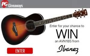 Acoustic Guitar Giveaway 2015 - win an ibanez avn1bs acoustic guitar