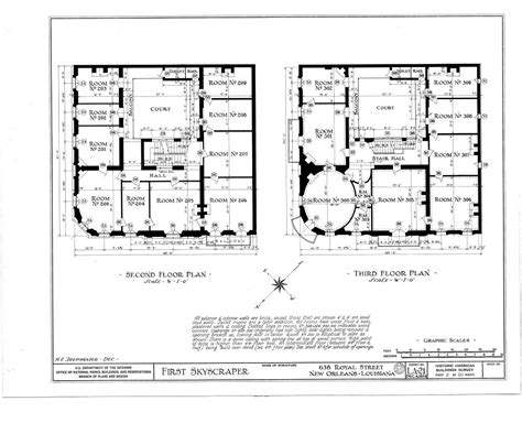 skyscraper floor plan the collins c diboll vieux carr 233 survey property info