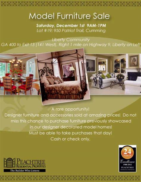 furniture sale articles peachtree residential