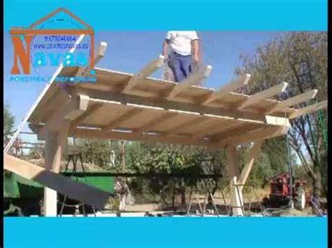 cobertizo rollizos porche de madera para cochera youtube
