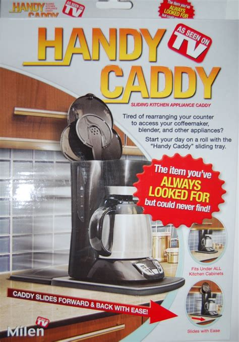 storage handy caddy small appliance caddy as seen on tv handy sliding kitchen appliance caddy milen as seen on tv new
