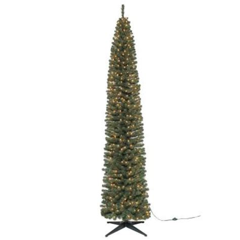 9 ft brighton pencil artificial christmas tree with 500