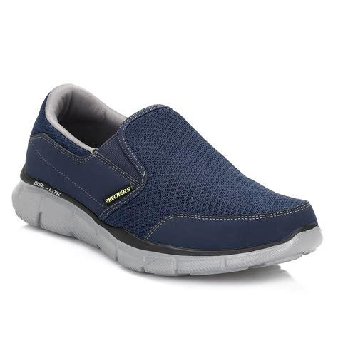 Sepatu Skechers Dual Lite skechers mens navy grey persistent equalizer trainers