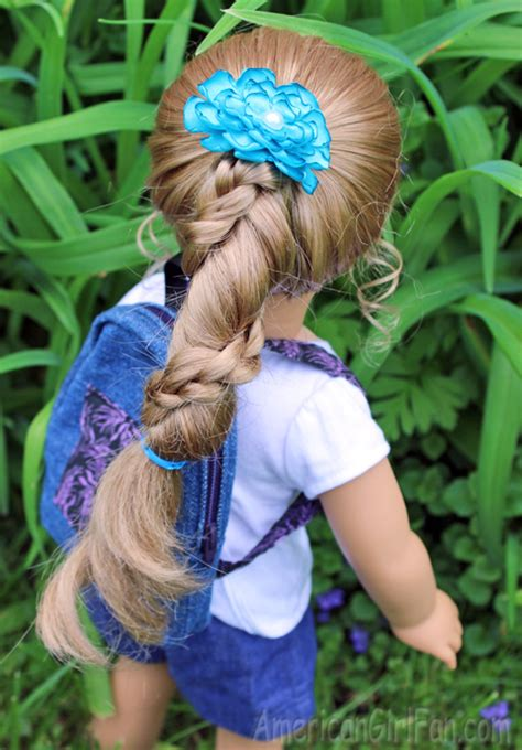 Rapunzel Hairstyle by Doll Hairstyle Rapunzel Ponytail Twist Americangirlfan
