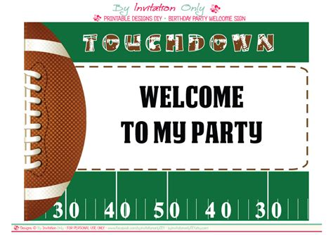 9 Best Images Of Football Graphics Free Printable Free Printable Football Party Invitation Football Invitation Template