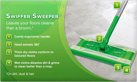 Swiffer Sweeper® Leaves your floors cleaner than a broom.*