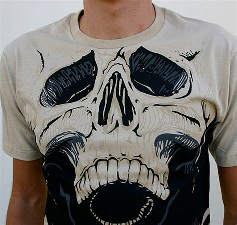 Kaos Huf X Thrasher skully t shirt the awesomer