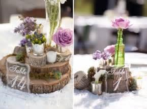 rustic centerpieces ideas on rustic purple wedding centerpieces
