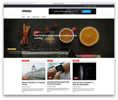 newsmag theme wordpress free best 7 free premium and professional magazine style