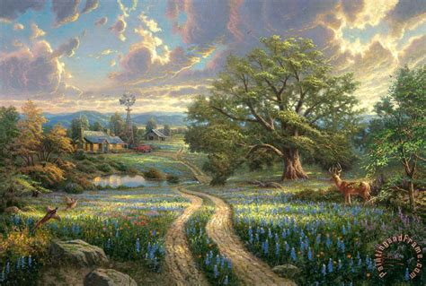 country paintings kinkade country living painting country living