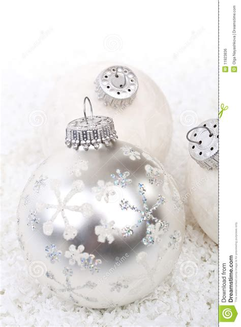 white christmas decorations stock photo image 11923836