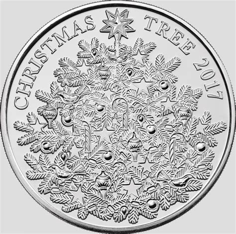 Christmas Decorated Homes The Royal Mint Unveils Silver 163 5 Christmas Tree Coin 2017