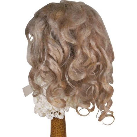 bisque doll wigs fabulous antique mohair wig for or german bisque