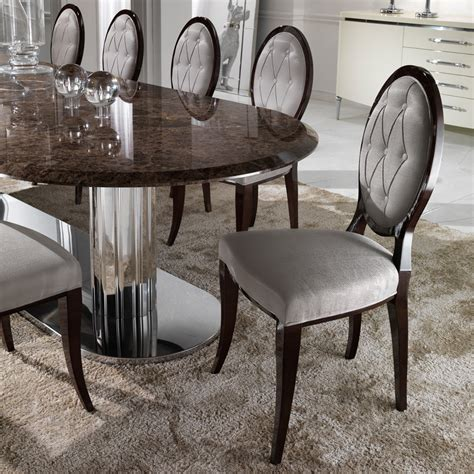 luxury dining tables and chairs large italian marble oval dining table set juliettes