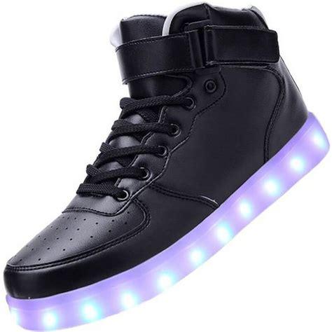 Shoes Big Glow Led led shoes black high