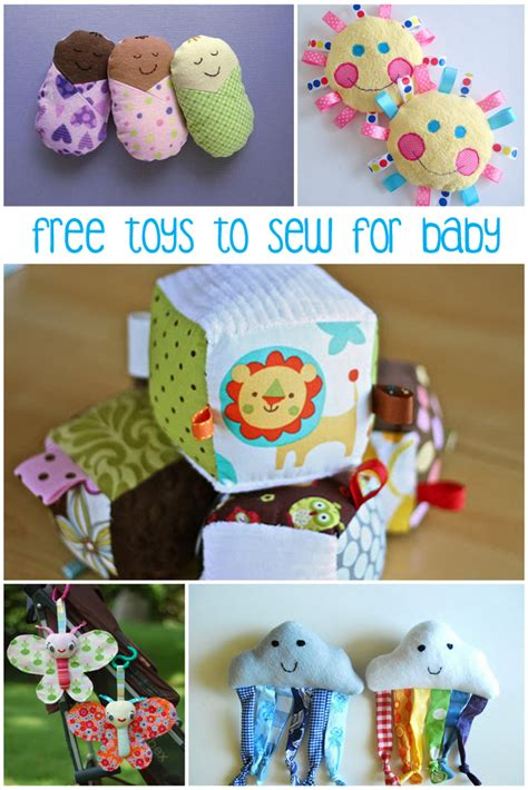 Handmade Baby Toys Patterns - 8 free baby toys to sew peek a boo pages patterns