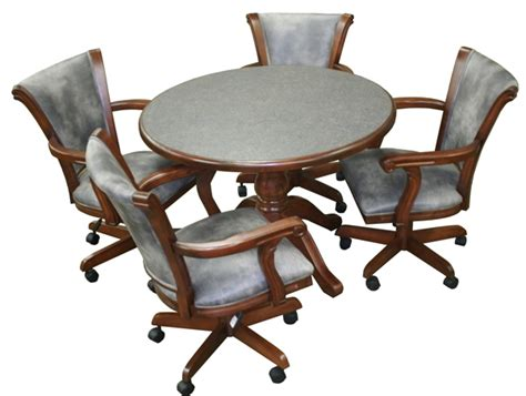 Caribean with arms caster chairs