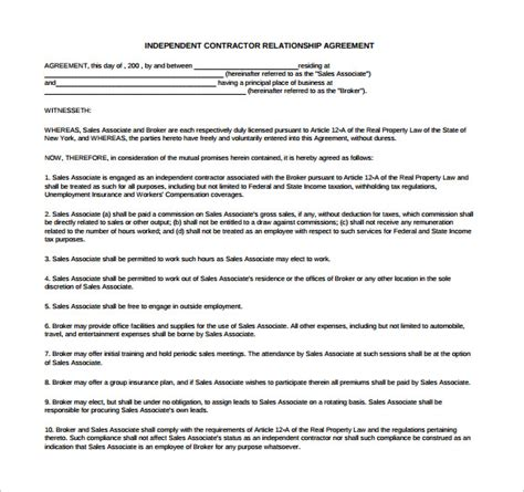 relationship agreement template sle relationship agreement 11 free documents in pdf
