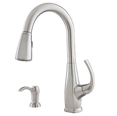 pfister selia kitchen faucet stainless steel selia 1 handle pull kitchen faucet