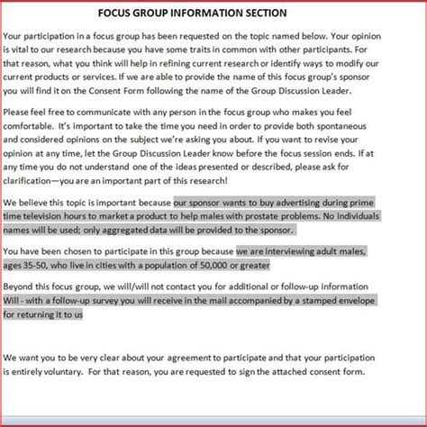 focus consent form template free downloadable focus release form
