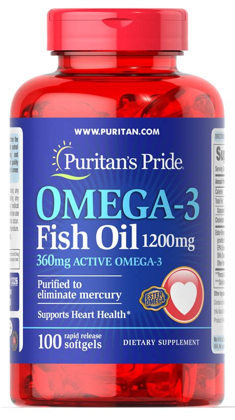 Sale Puritan Pride Fish Omega 3 1200mg 200 Caps omega 3 fish 1200 mg 360 mg active omega 3 100