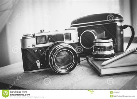 photography camera wallpaper black and white black and white closeup photo of old camera and notebook