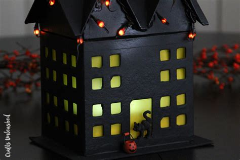 diy haunted house diy haunted house craft step by step crafts unleashed