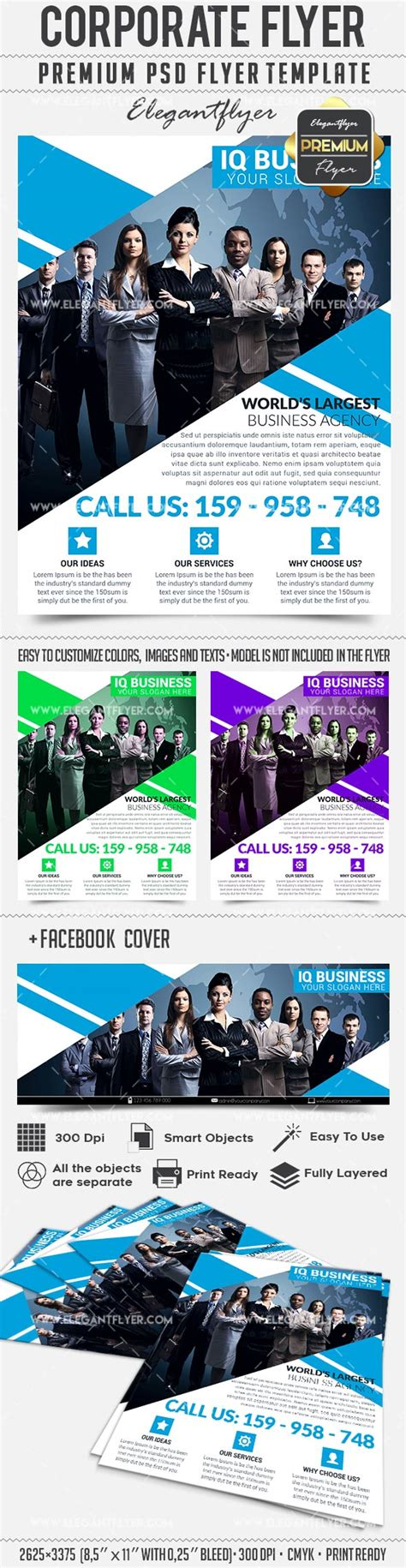 corporate flyer business flyer psd template facebook
