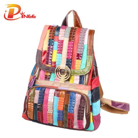 Backpack Set 4 In 1 fashion genuine leather backpack bags preppy style backpack school bags s back
