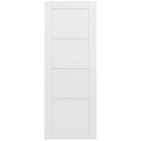 home depot wood doors interior jeld wen 32 in x 80 in moda primed pmp1044 solid wood interior door slab thdjw221100013