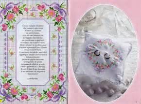 cuscini punto croce schemi cuscino portafedi fiorellini fiocchi magiedifilo it
