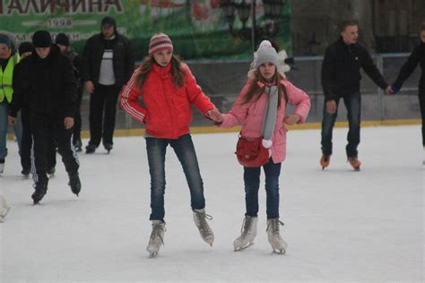at the ice rink in lviv ukraine bicycle touring pro