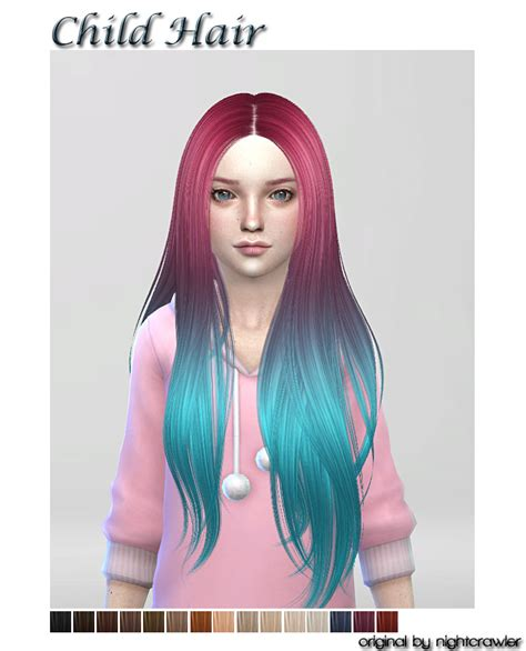 the sims 4 hair for female kids the sims resource sims 4 cc s the best hair for child by shojoangel