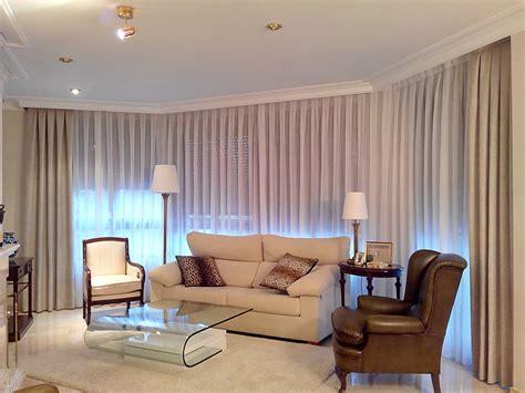 salones cortinas sal 243 n con visillos y dobles cortinas villalba interiorismo