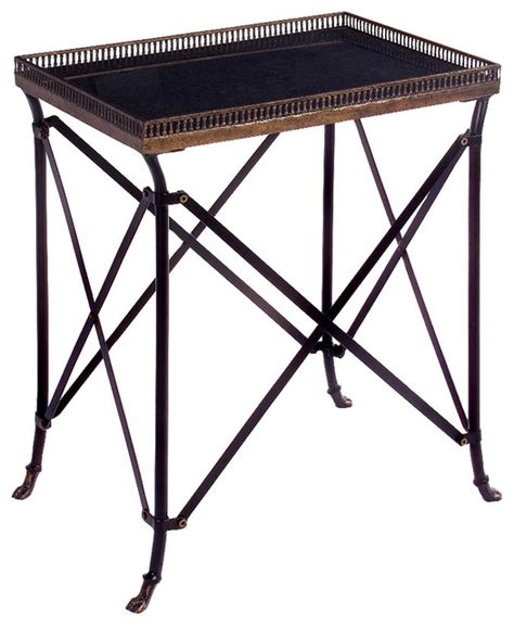 wrought iron accent tables imax traditional wrought iron black accent table 25 25 quot x