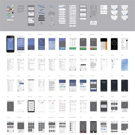 iphone wireframe template illustrator vector ios7 ui kit www ikono me